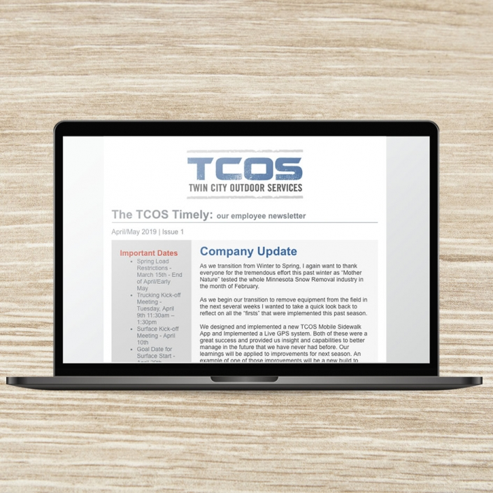 Internal Company Newsletter